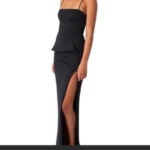 Black Halo Tia Peplum Gown